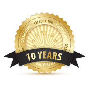 10 YEAR ANNIVERSARY Vector Icon
